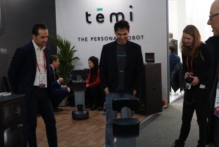 temi robot demo at MWC 2018