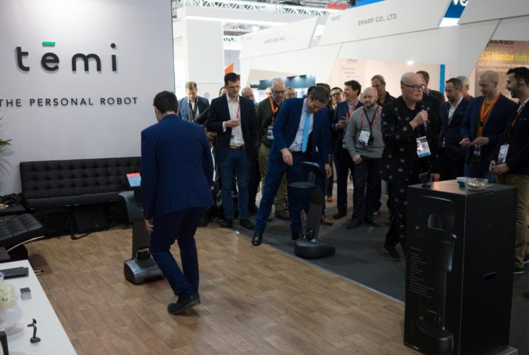 temi home robot demo at MWC